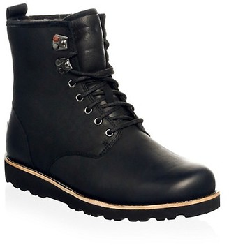 UGG Men's Hannen UGGpure-Lined Leather Waterproof Combat Boots