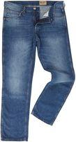Wrangler Greensboro Straight Fit Light Wash Jeans