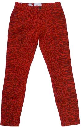 Current/Elliott Current Elliott Red Cotton - elasthane Jeans