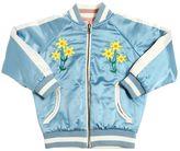 Stella McCartney Reversible Padded Satin Bomber Jacket