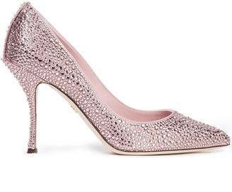 Dolce & Gabbana Lori Crystal-embellished Satin Pumps