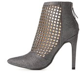 Charlotte Russe Laser Cut Pointed Toe Ankle Booties