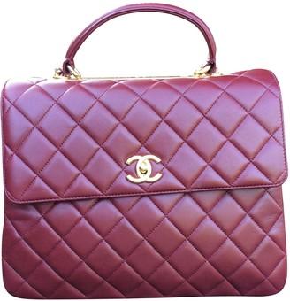 Chanel Trendy CC Burgundy Leather Handbags