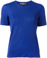 Salvatore Ferragamo short sleeve knitted top - women - Silk/Cashmere - L