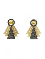 Ileana Makri diamond Art Deco style earrings