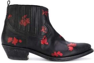 Golden Goose floral detail boots