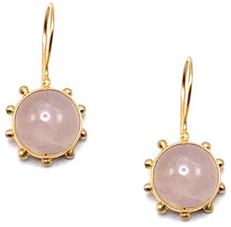 Dina Mackney Rose Quartz Pinwheel Earrings