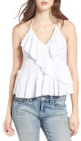 Sun & Shadow Women's Ruffle Halter Top