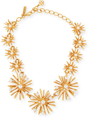 Oscar de la Renta Classic Pearly Starburst Necklace