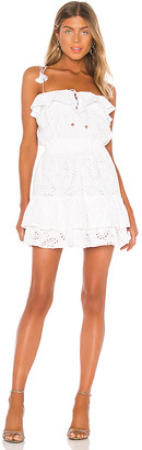 Karina Grimaldi Paloma Eyelet Mini Dress