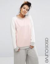 Asos Lounge Colour Block Sweatshirt