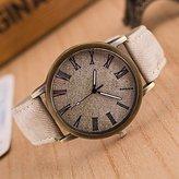 Unknown Women's Watch, Women's Fashion Diamond Colorful Strip Design Quartz Analog Denim Cloth Band Wrist Watch(Assorted Colors) ( Color : )