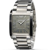 Emporio Armani Square Grey Dial with Steel Bracelet, 36 X 34.5mm