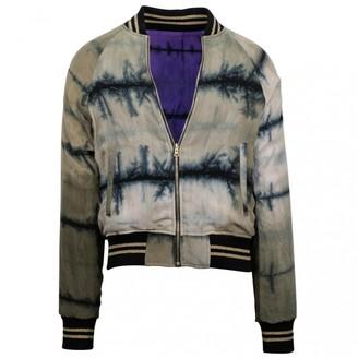 Amiri Purple Synthetic Jackets