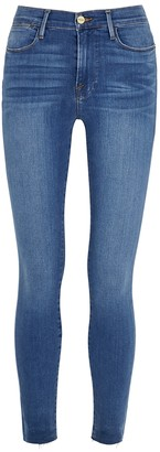 Frame Le High Skinny Blue Jeans