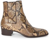 Saint Laurent Wyatt Python Chelsea Boots