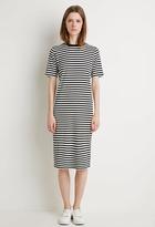 Forever 21 Stripe T-Shirt Midi Dress