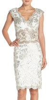 Tadashi Shoji Women's Two-Tone Sequin Lace Sheath Dress