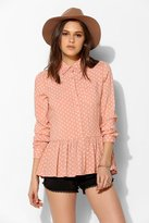 The Whitepepper Polka Dot Peplum Shirt