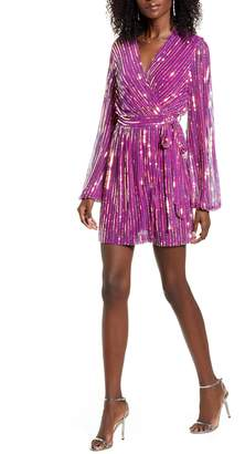 4SI3NNA the Label Weila Sequin Wrap Minidress