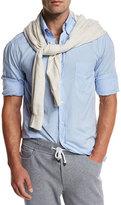 Brunello Cucinelli Super-Soft Sport Shirt, Light Blue
