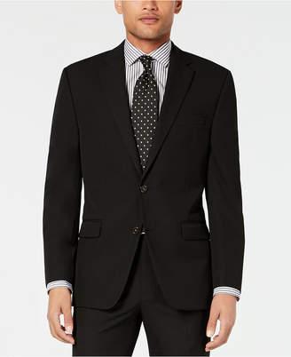 Chaps Men Classic-Fit Stretch Wrinkle-Resistant Black Solid Suit Jacket