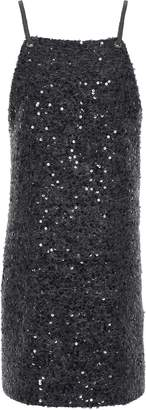Brunello Cucinelli Sequin-embellished Knitted Mini Dress