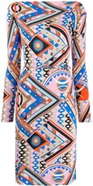 Emilio Pucci graphic-print fitted dress