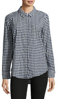 Two By Vince Camuto Petite Yarn-Dyed Gingham Shirt
