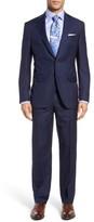David Donahue Men's Ryan Classic Fit Windowpane Wool Suit