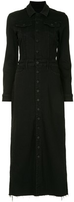 Mother Front-Slit Midi Shirt Dress