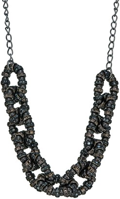 Simply Vera Vera Wang Black Simulated Pearl Chain Link Frontal Necklace