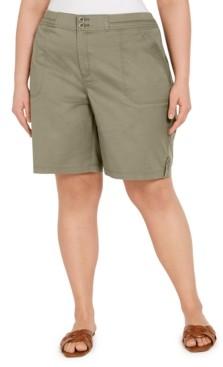 Karen Scott Plus Size Bermuda Shorts, Created for Macy's