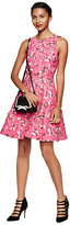 Kate Spade Rose brocade open back dress