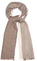 Brunello Cucinelli Cashmere and silk-blend striped scarf
