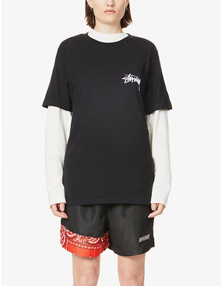 Stussy Crown Spade branded cotton-jersey T-shirt