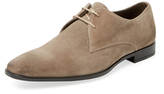 a. testoni Old Suede Plain Toe Derby Shoe