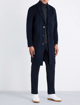 Sandro Single-breasted wool and cashmere-blend coat