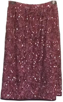 Saint Laurent Burgundy Silk Skirt for Women Vintage