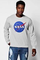 boohoo Mens Nasa Print Crew Neck Sweater