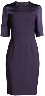 BOSS Danufa Super Stretch Virgin Wool Sheath Dress