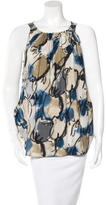 Hache Sleeveless Abstract Print Top
