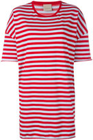Laneus striped oversized T-shirt - women - Cotton/Polyamide - XS