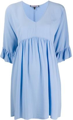 Fisico Ruffle Cuff Silk Dress