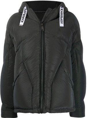 KHRISJOY Padded Long-Sleeve Coat