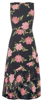 Dorothy Perkins Womens Dp Petite Black Floral Print Skater Dress, Black