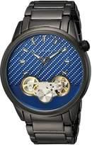 Sean John Men's 'Faux Automatic' Quartz Metal and Alloy Dress Watch, Color:Grey (Model: SJC0176001)