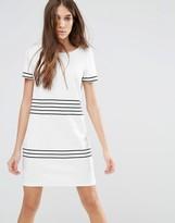 Vila Contrast Stripe Shift Dress