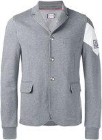 Moncler Gamme Bleu contrast arm blazer - men - Cotton/Cupro - M