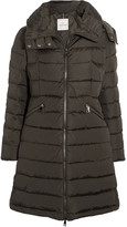 Moncler Flamette Quilted Shell Down Coat - Army green
